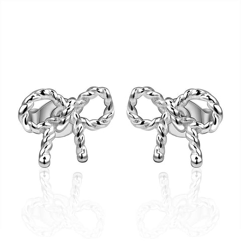 Sterling Silver Intertwined Knot Stud Earring - rubiquejewelry.com