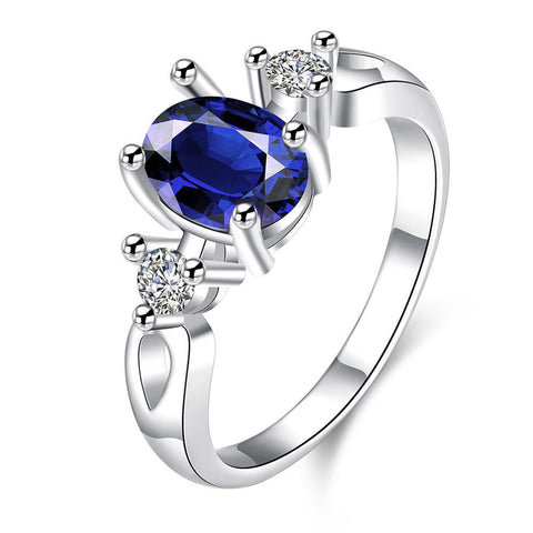 Petite Mock Sapphire Gem Duo Stone Ring - rubiquejewelry.com