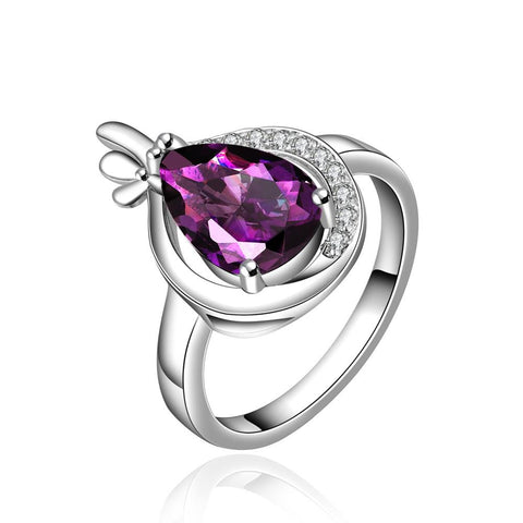 Purple Citrine Jewels Half Overlay Ring - rubiquejewelry.com