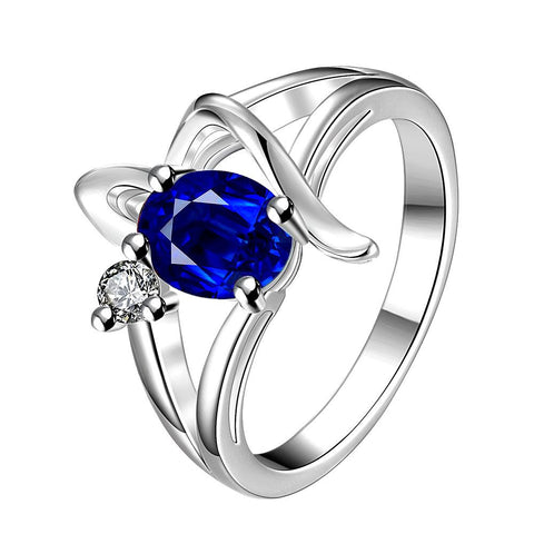 Mock Sapphire Spiral Design Petite Ring - rubiquejewelry.com