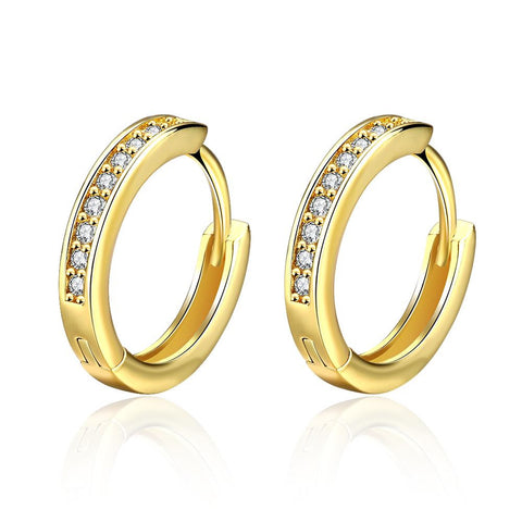 Gold Plated Petite Mini Hoop Earrings - rubiquejewelry.com