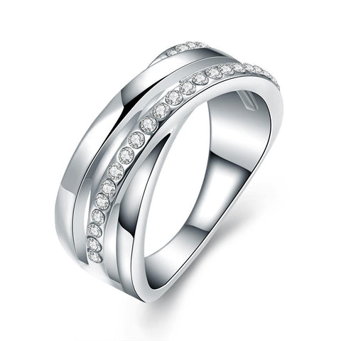 1/4 Carat Simulated Diamond Tungsten Ring - rubiquejewelry.com