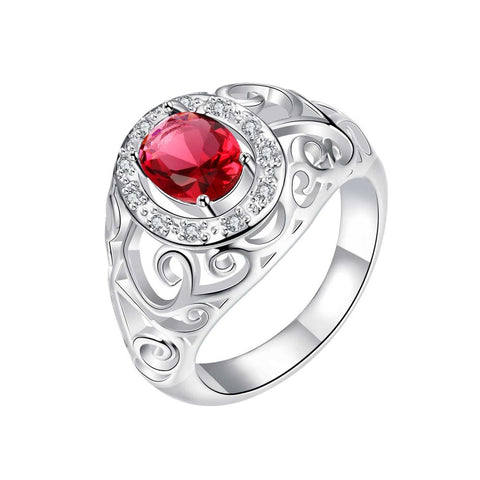 Royalty Inspired Ruby Red Modern Ring - rubiquejewelry.com