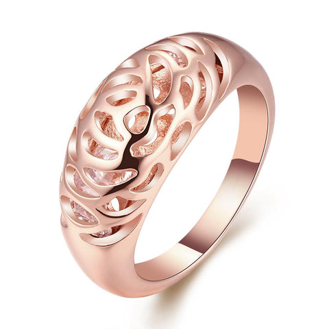 Rose Gold Plated Imprint Ring - rubiquejewelry.com