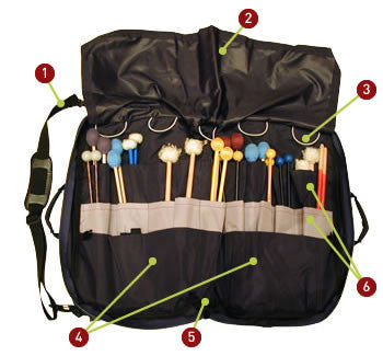 Drumstick, Mallet & Percussion Accessory Bag - Large - #PEMB-LG