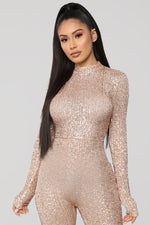 FULL GLAM SEQUIN JUMPSUIT