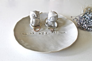 Unique Ring bearer in Glacier - Jewelry Holder for the couple -