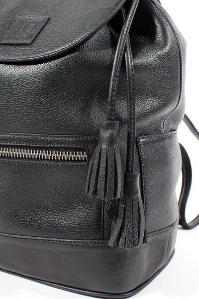 Hudson Leather Backpack - Close up