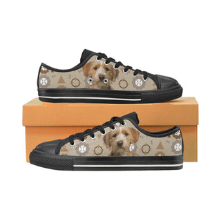 Basset Fauve Dog Black Canvas Women's Shoes/Large Size - TeeAmazing