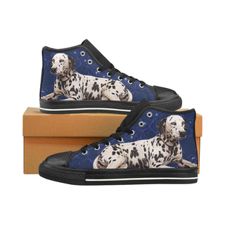 Dalmatian Lover Black Men's Classic High Top Canvas Shoes /Large Size - TeeAmazing