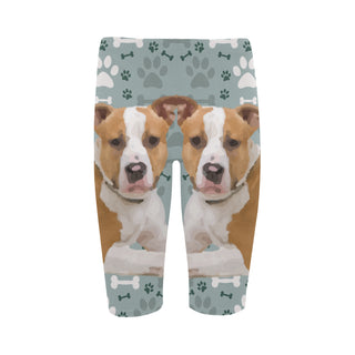 American Staffordshire Terrier Hestia Cropped Leggings (Model L03) - TeeAmazing
