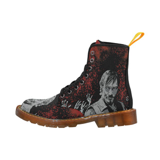 Daryl and Zombie's Hands Black Boots For Men - TeeAmazing