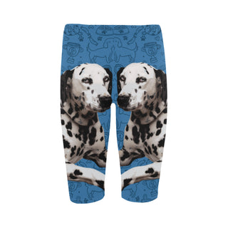 Dalmatian Dog Hestia Cropped Leggings (Model L03) - TeeAmazing