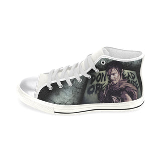 Daryl Dixon (Don't Open - Dead Inside) White Women's Classic High Top Canvas Shoes - TeeAmazing