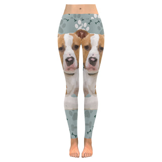 American Staffordshire Terrier Low Rise Leggings (Model L05) - TeeAmazing
