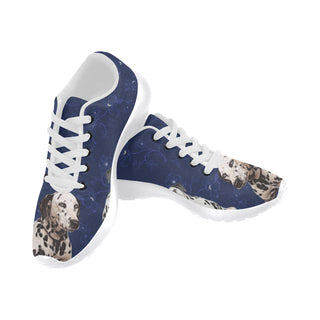 Dalmatian Lover White Sneakers Size 13-15 for Men - TeeAmazing
