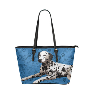 Dalmatian Dog Leather Tote Bag/Small - TeeAmazing