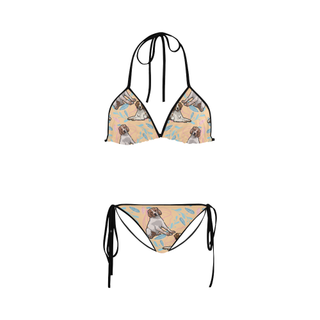 Brittany Spaniel Flower Custom Bikini Swimsuit - TeeAmazing