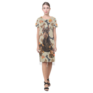 Doberman Dog Short Sleeves Casual Dress - TeeAmazing