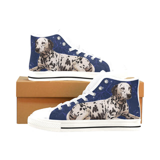 Dalmatian Lover White Men's Classic High Top Canvas Shoes /Large Size - TeeAmazing