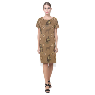 Doberman Short Sleeves Casual Dress - TeeAmazing