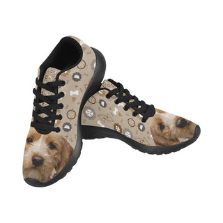 Basset Fauve Dog Black Sneakers for Women - TeeAmazing