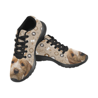 Basset Fauve Dog Black Sneakers for Men - TeeAmazing