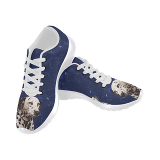 Dalmatian Lover White Sneakers for Women - TeeAmazing