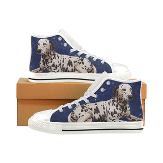 Dalmatian Lover White Men's Classic High Top Canvas Shoes - TeeAmazing