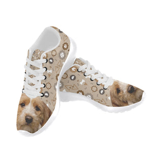 Basset Fauve Dog White Sneakers Size 13-15 for Men - TeeAmazing