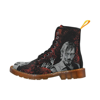 Daryl and Zombie's Hands Black Boots For Women - TeeAmazing