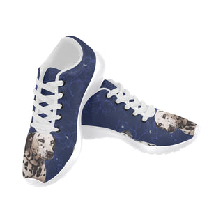 Dalmatian Lover White Sneakers for Men - TeeAmazing
