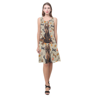 Doberman Dog Sleeveless Splicing Shift Dress - TeeAmazing