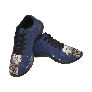 Dalmatian Lover Black Sneakers for Women - TeeAmazing