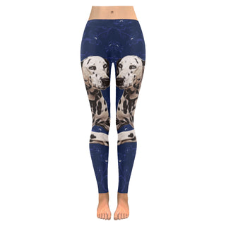 Dalmatian Lover Low Rise Leggings (Invisible Stitch) (Model L05) - TeeAmazing