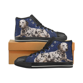 Dalmatian Lover Black Men's Classic High Top Canvas Shoes - TeeAmazing
