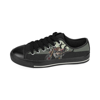 Daryl Dixon Black Canvas Women's Shoes (Large Size) - TeeAmazing