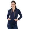 Loco En Cabeza Navy Cotton Fleece Long Sleeve Hoodie CZWH0005