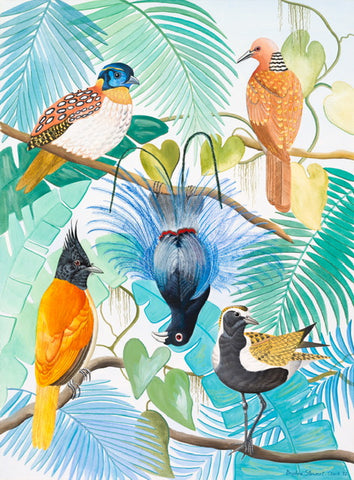 Daphne Stephenson 'Birds of Paradise' limited edition print 56x76cm