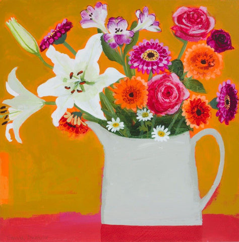 Emma Dunbar 'Chunky December Bunch' acrylic on board 46x46cm