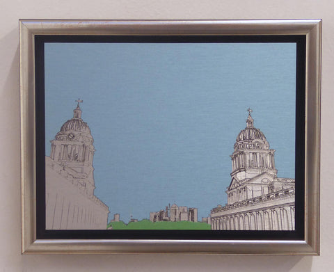 Michael Wallner 'Old Royal Naval College' brushed aluminium print Ltd edition of 30  20x15x5cms