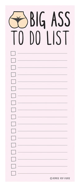 BIG ASS TO DO LIST | Notepad