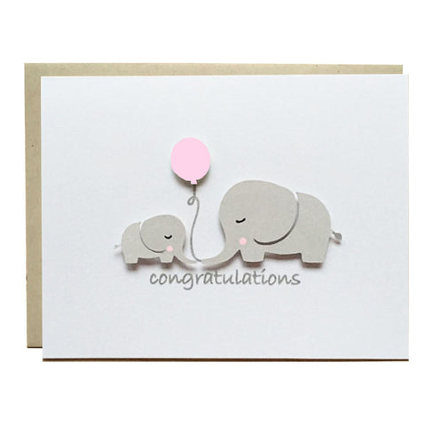 ELEPHANT BABY SHOWER - PINK BALLOON