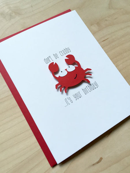 DON'T BE CRABBY BIRTHDAY CARD