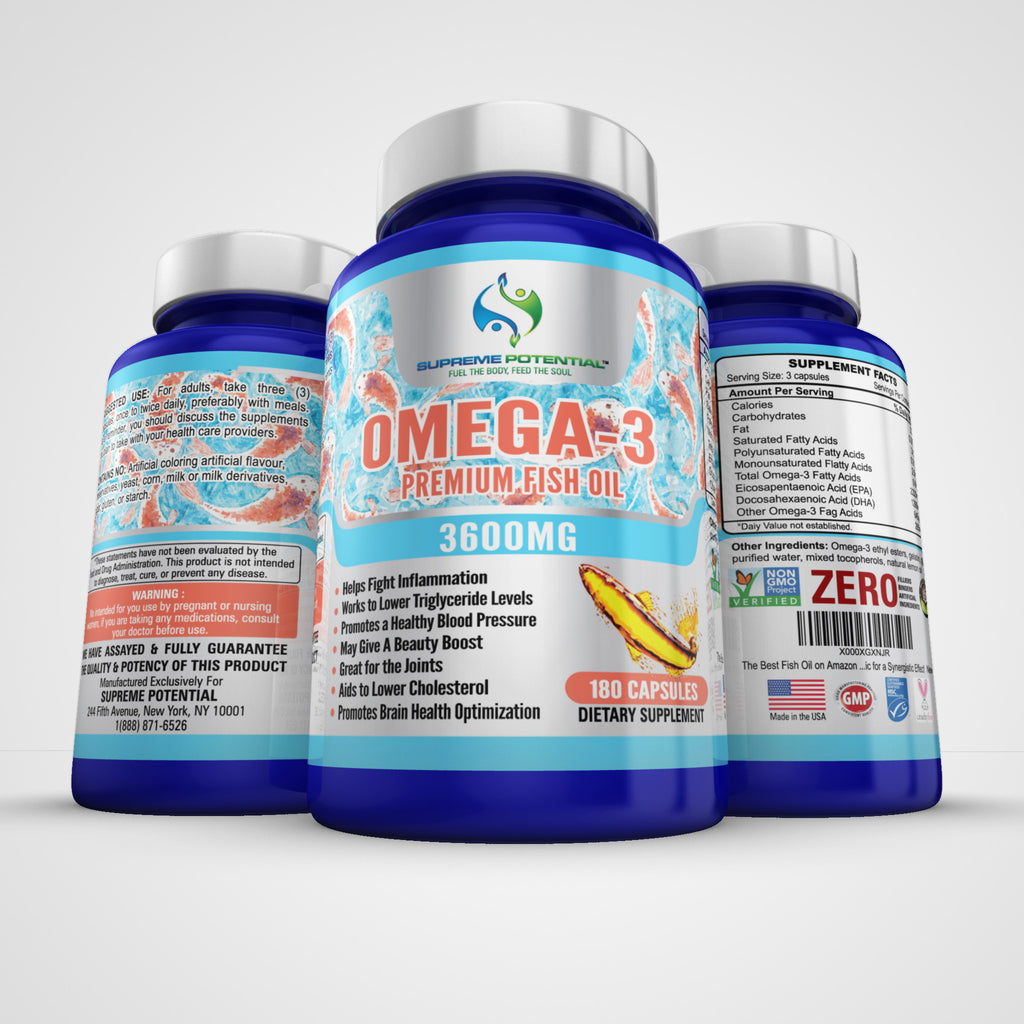 3600mg Fish Oil. 1090 EPA/645 DHA