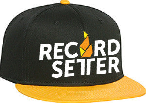 """Record Setter Logo"" Black and Gold Snapback Hat"
