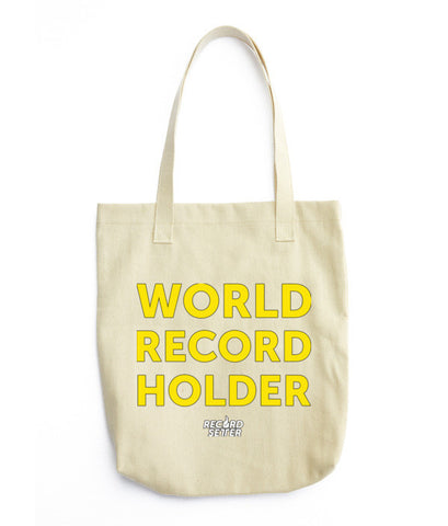"""World Record Holder"" Tote bag"