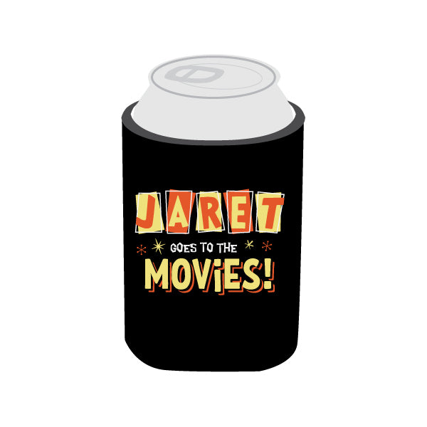Jaret Goes To The Movies - Logo Koozie
