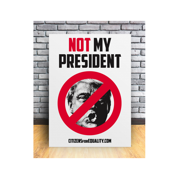 "Citizens For Equality - ""Not My President"" Poster"