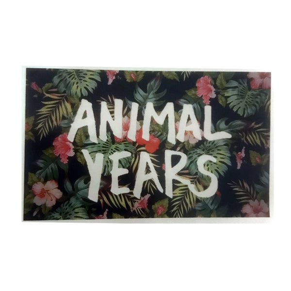 Animal Years - Floral Logo Sticker
